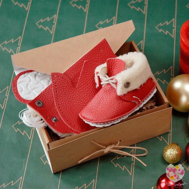 《First Baby Shoes》Model : RIE ファーストシューズ手作りキット Red