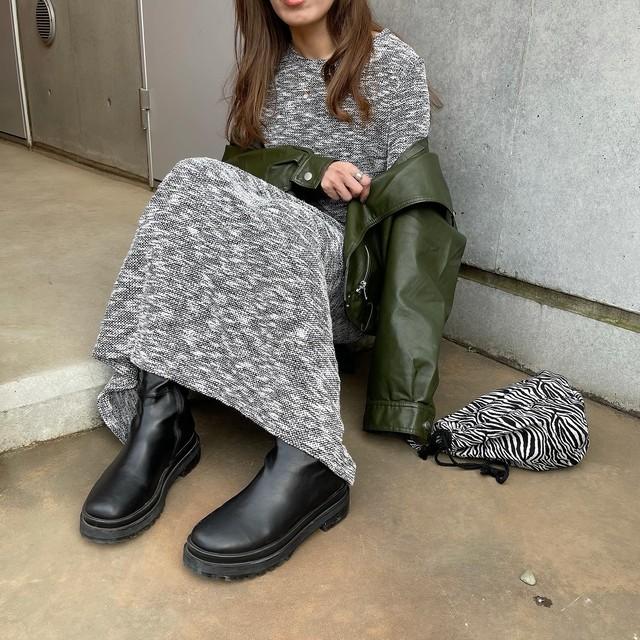 ✔︎MIX tweed slitセットアップ/Black