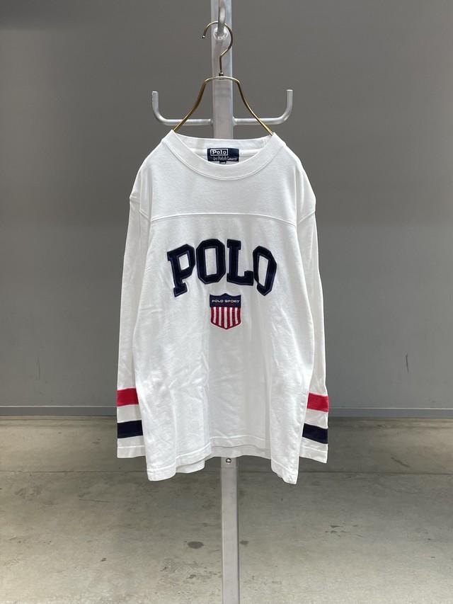 (KD254)140cm Polo Ralph Lauren logo long sleeve T-shirt