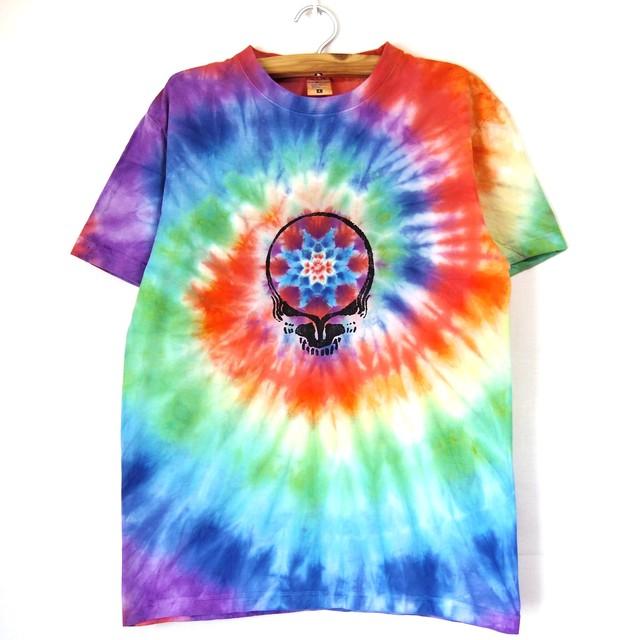 TKHOMEFACTORY × GREATFUL DEAD  Mandala×spiral tiedye T-shirt  L