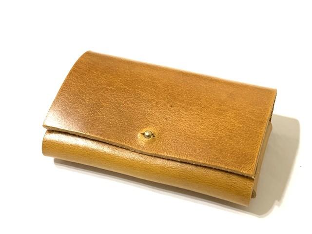 【イビザ】名刺入れ・カードケース キャメル