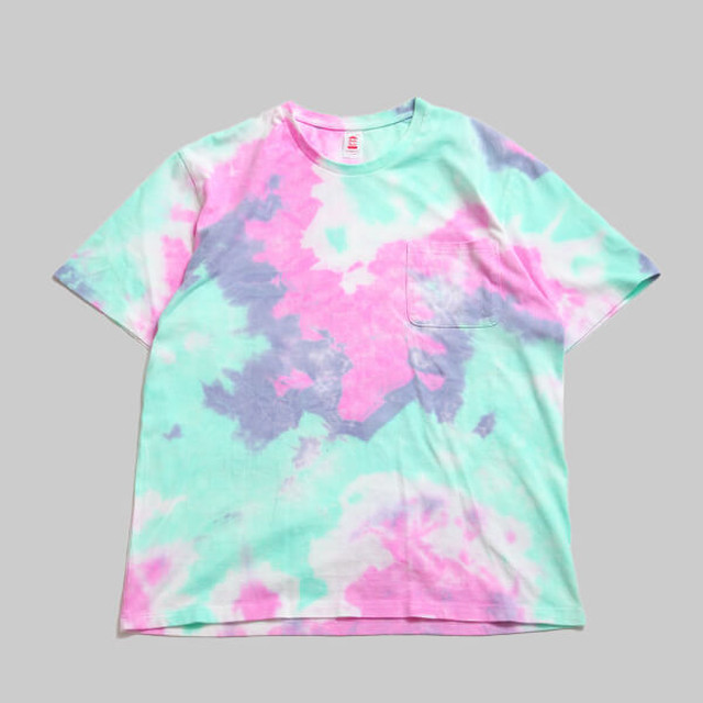 CC BASIC HEART POCKET T-SHIRT-G.TIEDYE