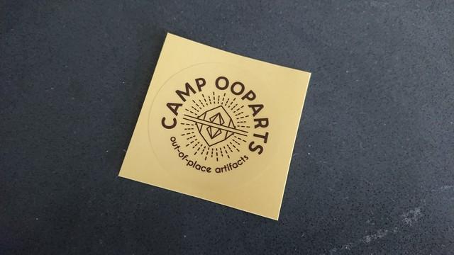 ステッカー φ130mm campooparts カラー ブラック /車やグッズをオーパーツロゴへ! キャンプ オーパーツ