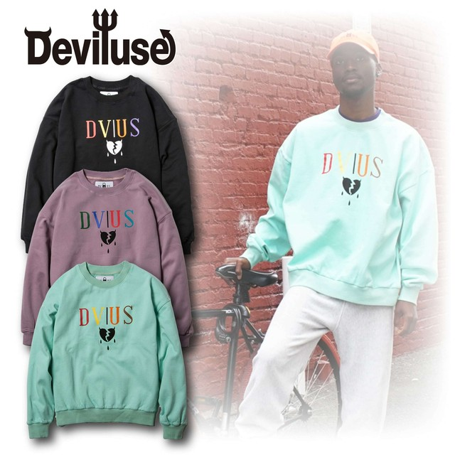 Deviluse(デビルユース) | Heartaches Crew Neck