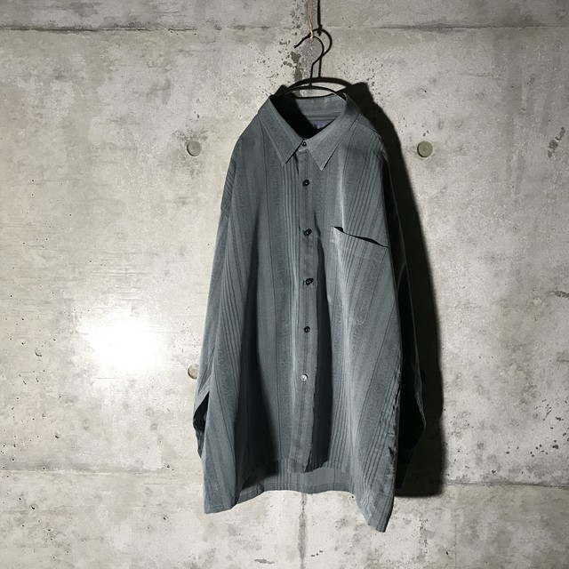 [used] grey rare striped shirt