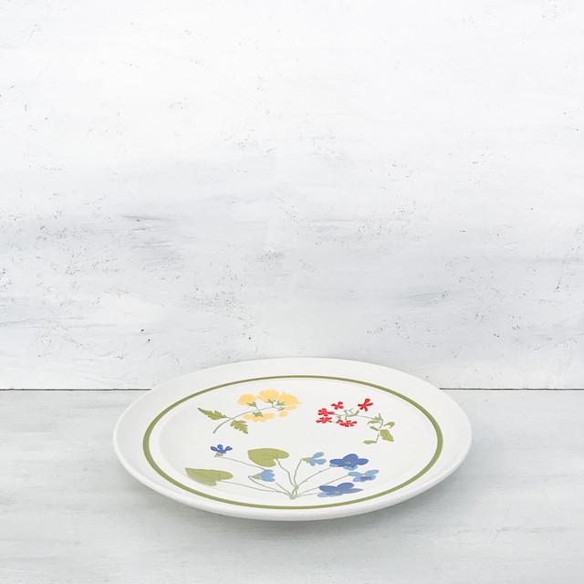 【B-106】3種花柄たち吉レトロプレート