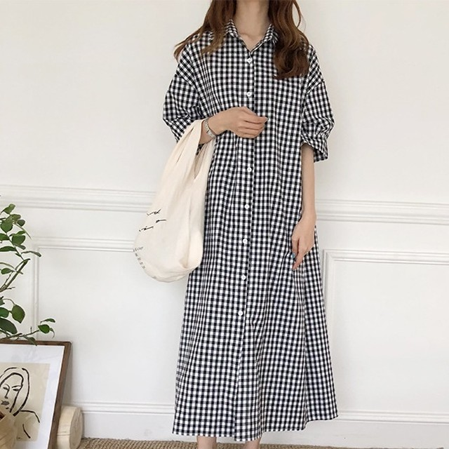 Gingham Check One Piece T644