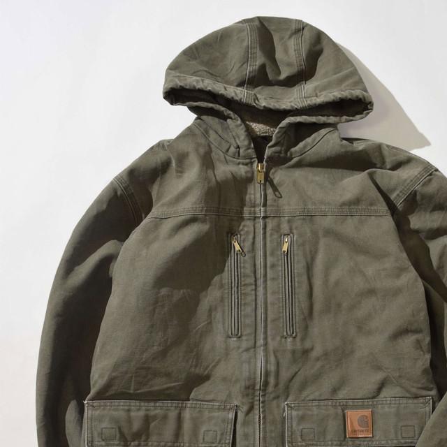 【Mサイズ】CARHARTT カーハート BOALINER HOODED JACKET ジャケット OLIVE オリーブ M 400610191024