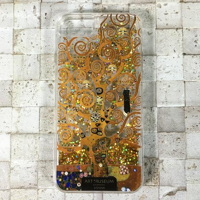 ARTiFY iPhone SE(第2世代)/6/6s/7/8 グリッターケース クリムト 生命の樹 ゴールド AJ00242