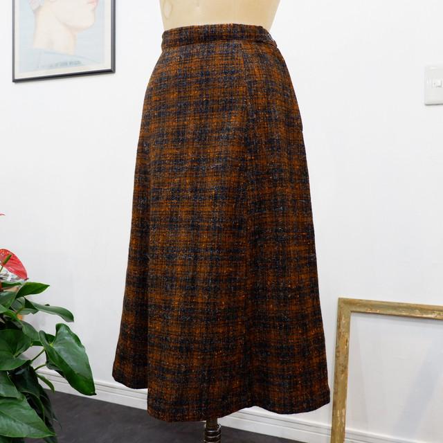 アメリカ古着 1960s vintage オンブレチェック ウールスカート