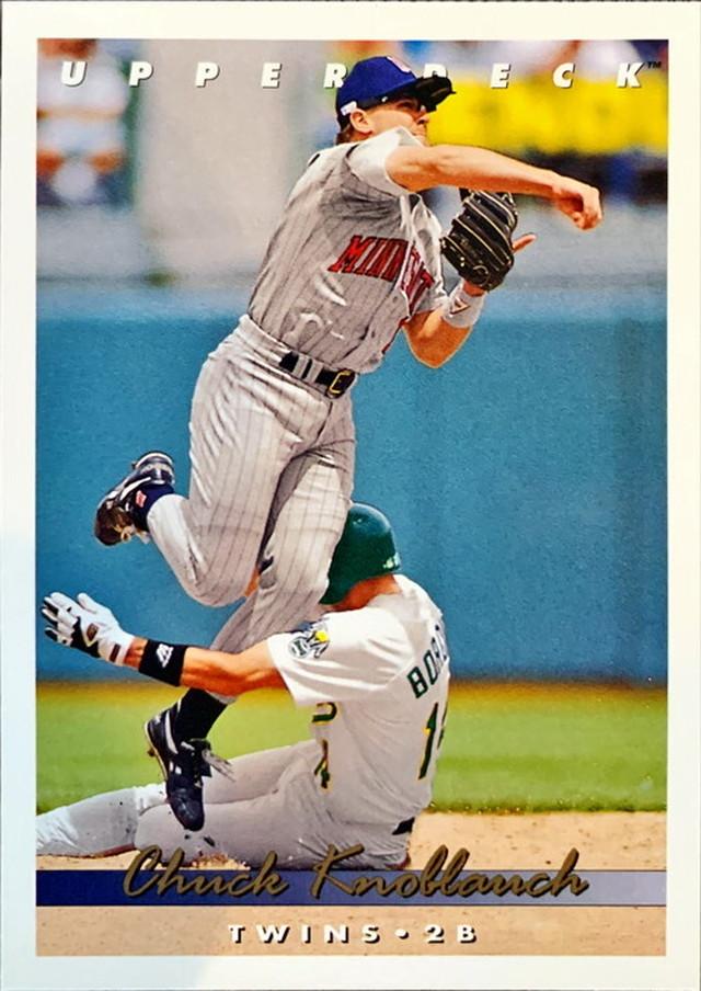 MLBカード 93UPPERDECK Chuck Knoblauch #254 TWINS
