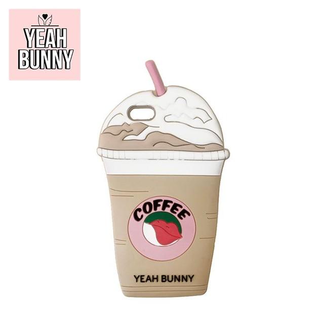 【YEAH BUNNY】 3D シリコン iPhoneケース(COFFEE)
