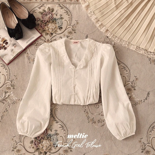 再販【meltie】french girl blouse