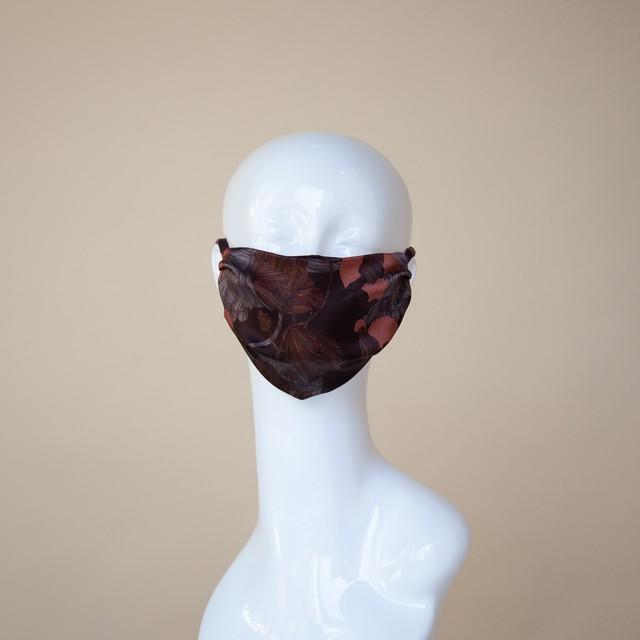 MASK マスク Chocolate print x Smoky Gray