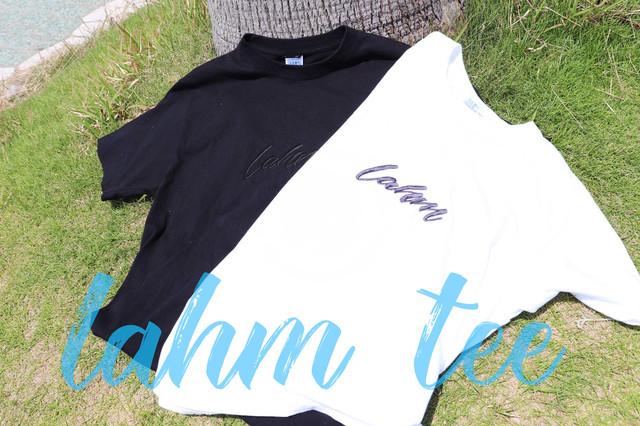 lahm 刺繍 TEE  (LAHMコットン巾着付き)  LAHM/エルエーエイチエム