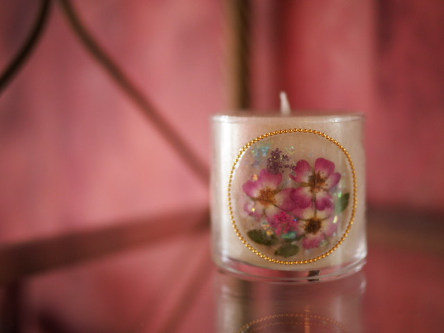 Pressed Flowers Candle 9