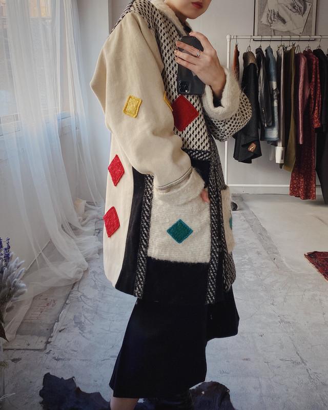 vintage design wool coat