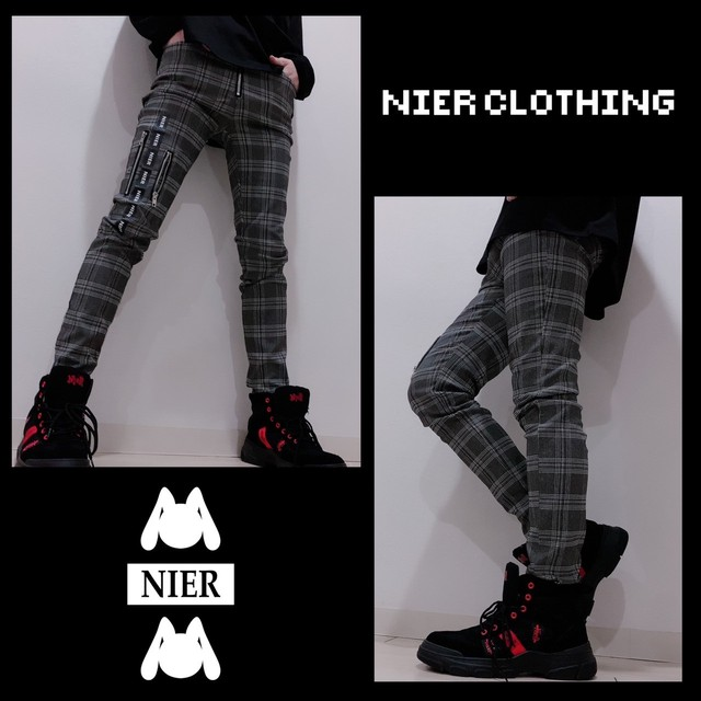 GRAY CHECKERD STYLISH PANTS