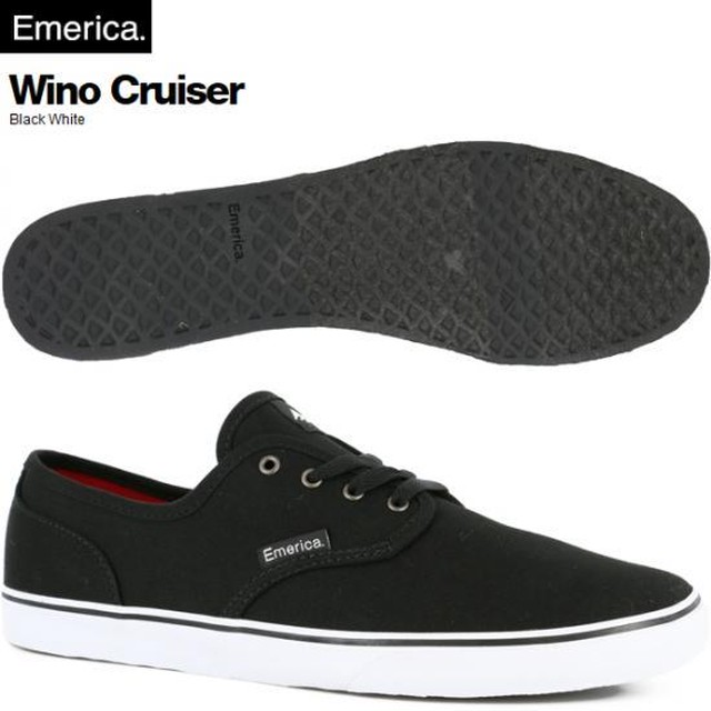 EMERICA エメリカ WINO CRUISER BLACK/WHITE CANVAS