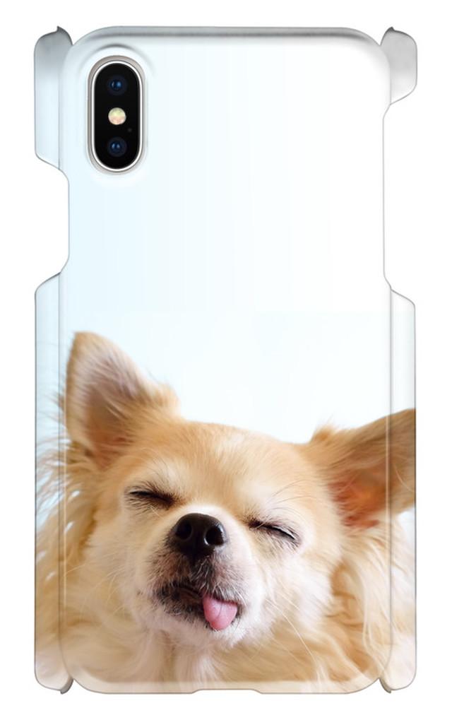 iPhoneX 印刷ケース 犬 わんちゃん いぬ 動物 アニマル オリジナルケース iphone 画像印刷 カバー