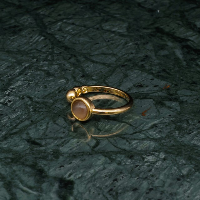 SINGLE MINI STONE OPEN RING GOLD 007