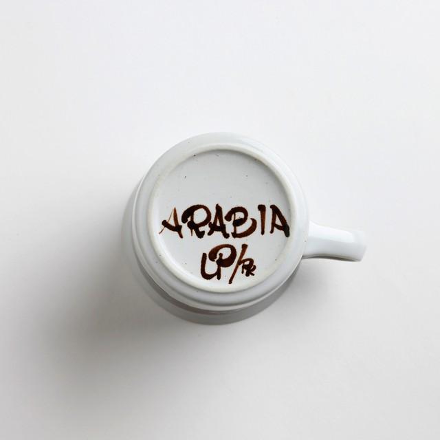 ARABIA アラビア Rosmarin ロスマリン コーヒーカップ&ソーサー - 6 北欧ヴィンテージ