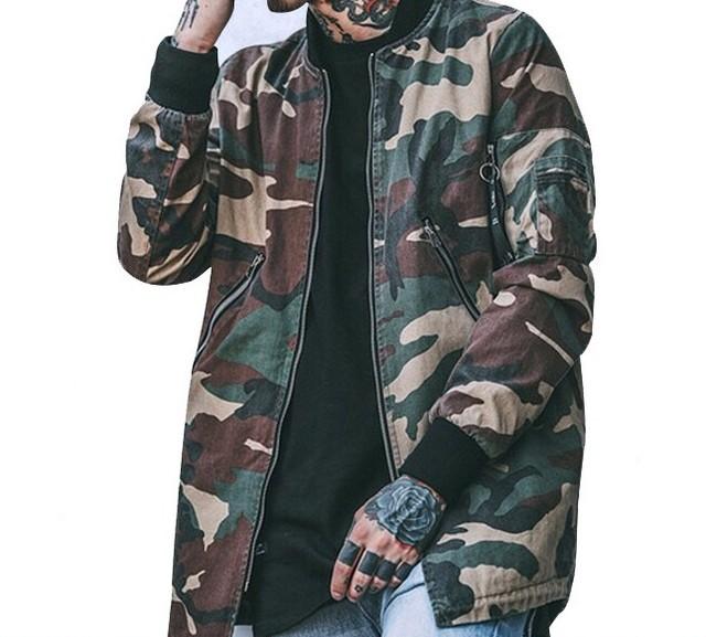 【COOL】迷彩ビックサイズジャケット 2カラー