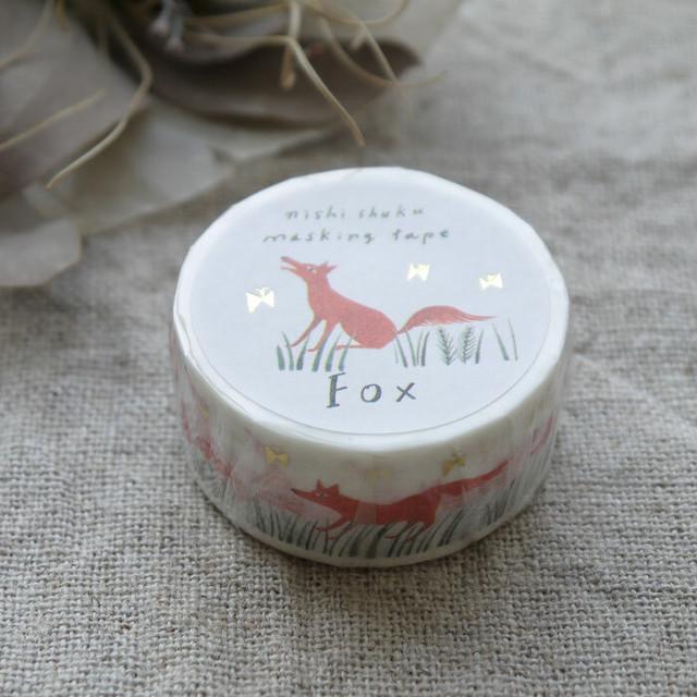 【表現社 cozyca products】西淑  マスキングテープ(Fox)