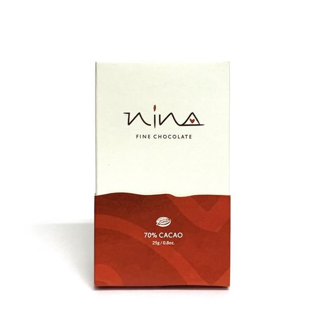 ニーナチョコレート (ミニバー)70%カカオ