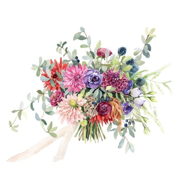Custom Wedding Bouquet Painting【SSサイズ】