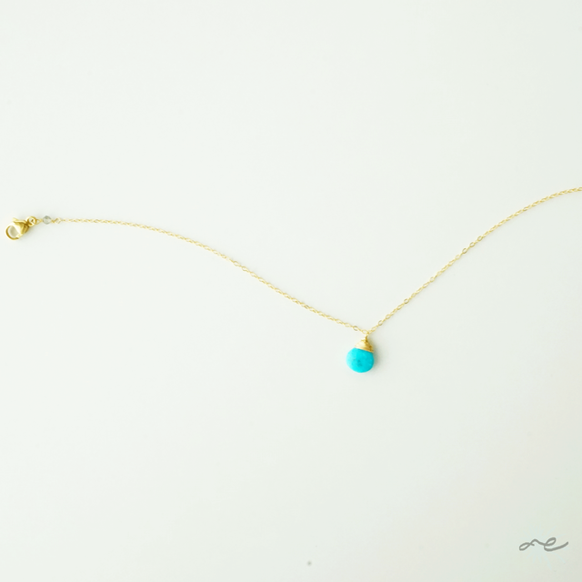 Turquoise Anklet/14KGF