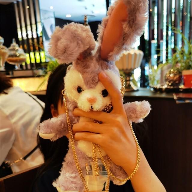 【小物】スウィートシンプルキュートウサギ人形付き立体スマホケース41749419