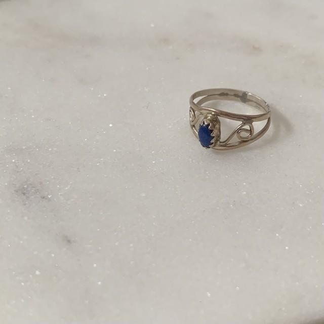 silver pinky ring / ラピスラズリ