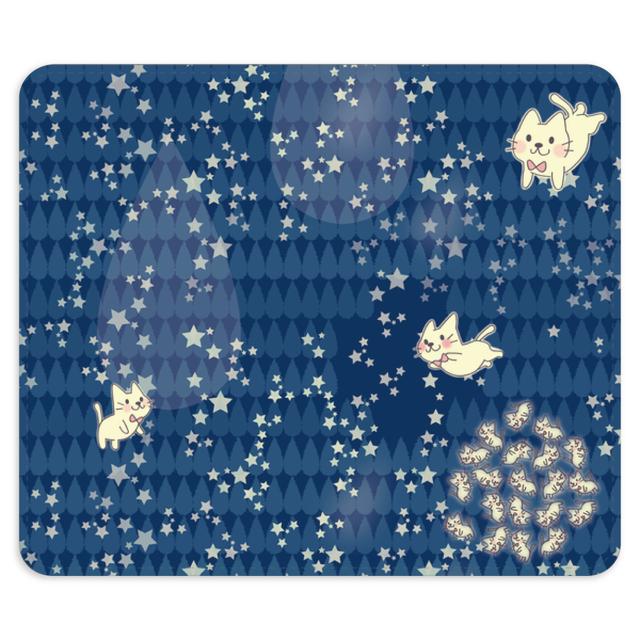 19-10TNEo*月光雨のねこの帯なし手帳型スマホケースD