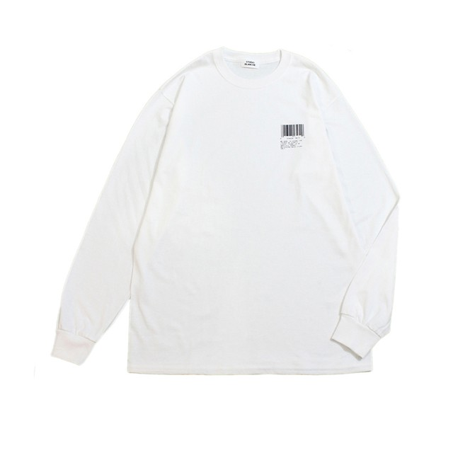 STUDIO BLANCHE / BARCORD PRINT LONG SLEEVE Tシャツ