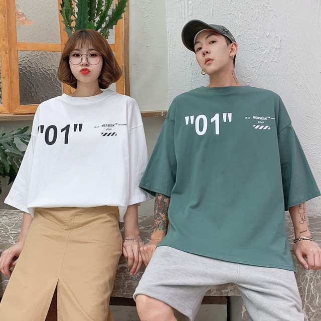 【即納】【送料無料】 カップルコーデに♡ ユニセックス オーバーサイズ ロゴ Tシャツ バックプリント メンズライク