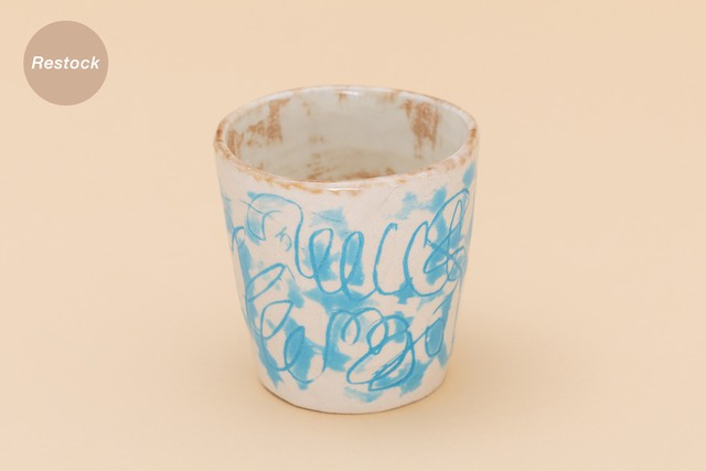 CHIECOceramics CUP (blue drawing)
