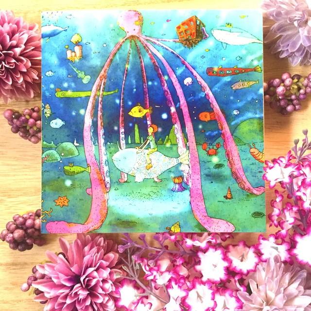 絵画 インテリア アートパネル 雑貨 壁掛け 置物 おしゃれ イラスト ロココロ 画家 : 志摩飛龍 作品 : 海の仲
