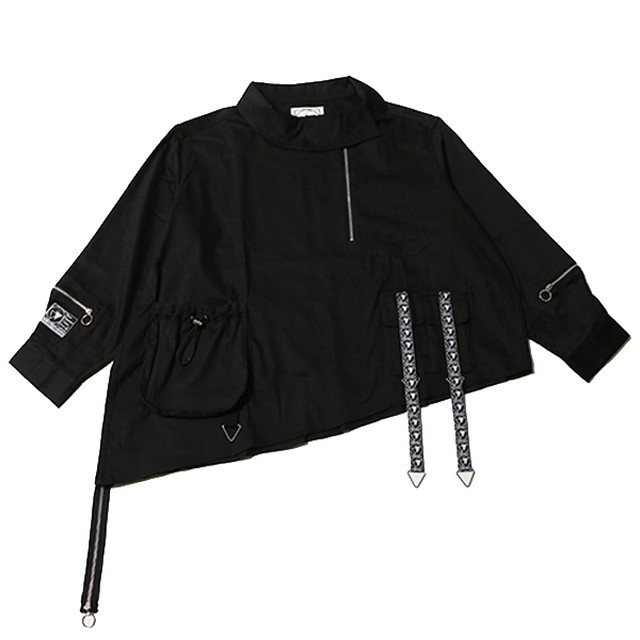 SHADOW -Deformed Pullover Shirts-