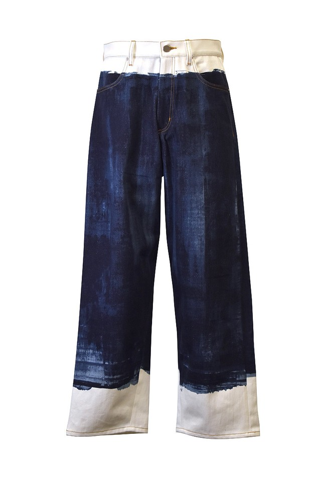 koji makino / Squeegee denim pants / Dark blue