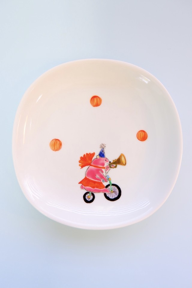 pink bear / plate(15cm)