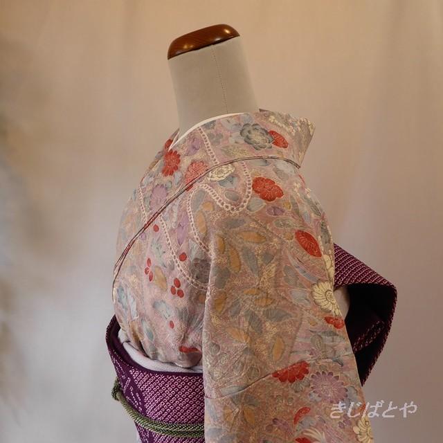 正絹 モノトーンの江戸小紋 袷