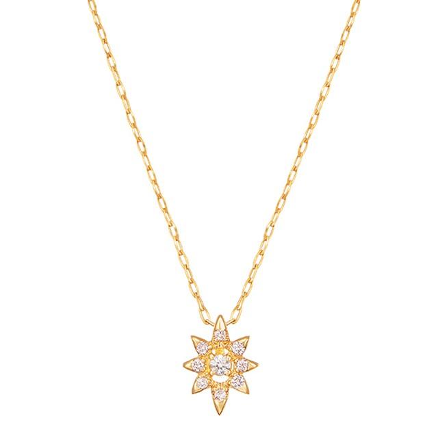 K18YGダイヤモンドネックレス 020209002803