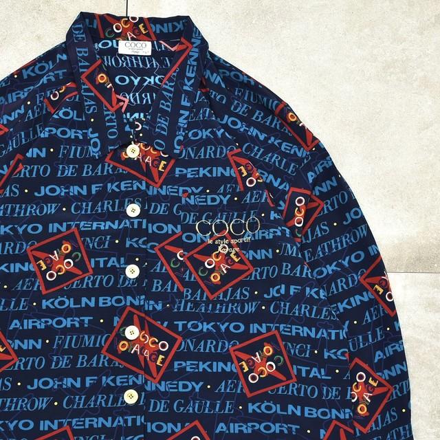 Jp vtg over silhouette polyester shirt