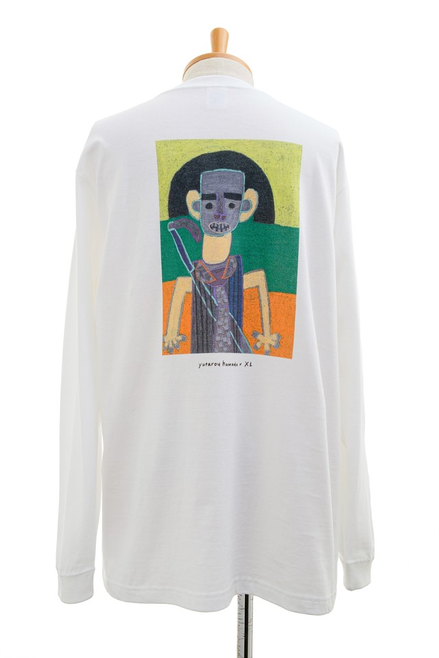 【Yutarou Hamada × XL】ロングスリーブTシャツ ホワイト