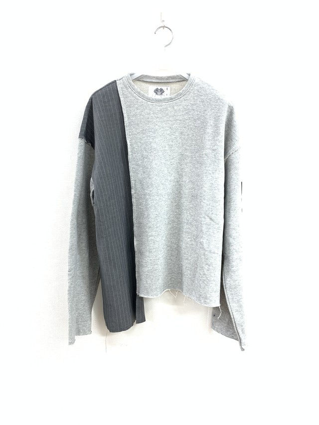 CUT-OFF PANEL SWEAT SHIRT