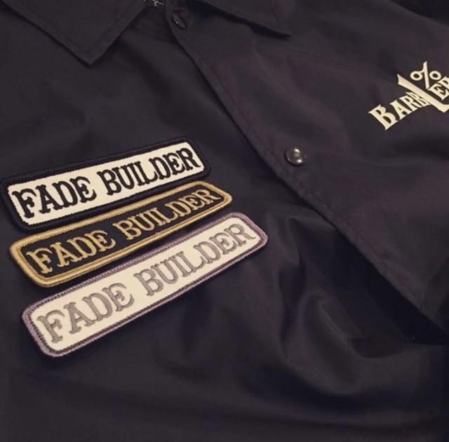 【ラス1になりました】FADE BUILDERワッペン ホワイトxシルバー