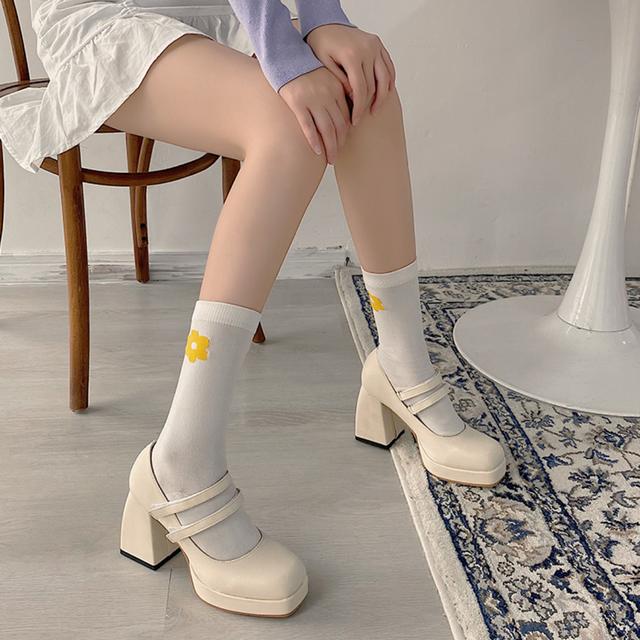 〈カフェシリーズ〉ビッグヒールガーリーシューズ【big heel girly shoes】