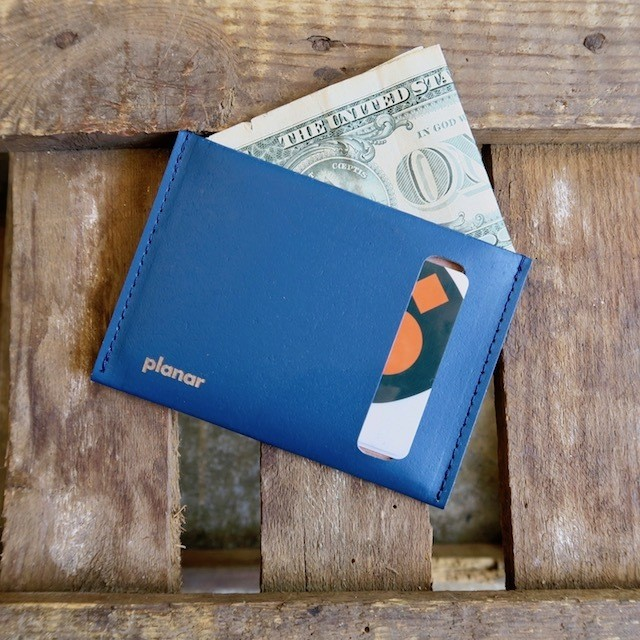 Planar  Wallet & Card Case -Blue Plain-