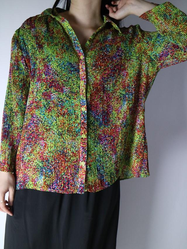 open collar lib shirt【1082】